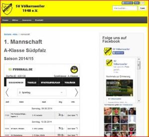 Website 1.Mannschaft